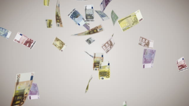 falling euro bills - banknote stock videos & royalty-free footage