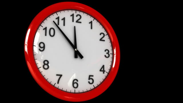 falling figures in a wall clock, hd - changing clock stock videos and b-roll footage