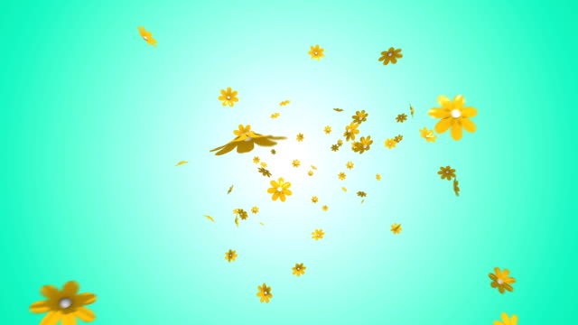 falling flowers - 3d animation stock videos & royalty-free footage