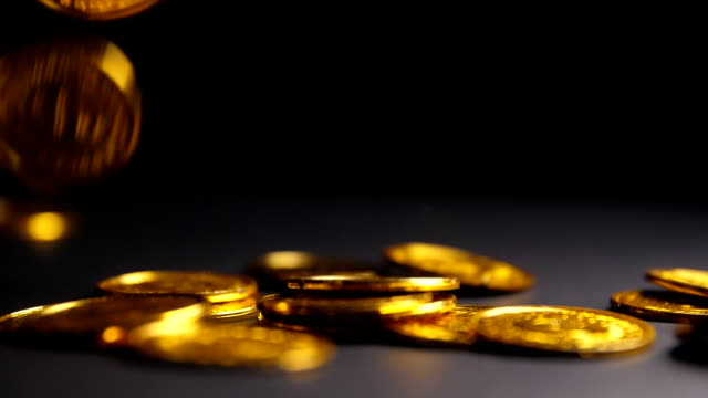 falling gold coins - ancient stock videos & royalty-free footage