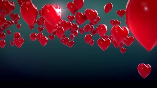 falling hearts - depth marker stock videos & royalty-free footage