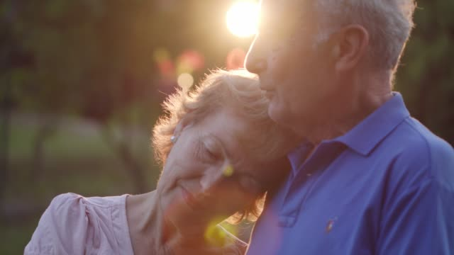 falling in love all over after years of long marriage - senior couple stock videos & royalty-free footage