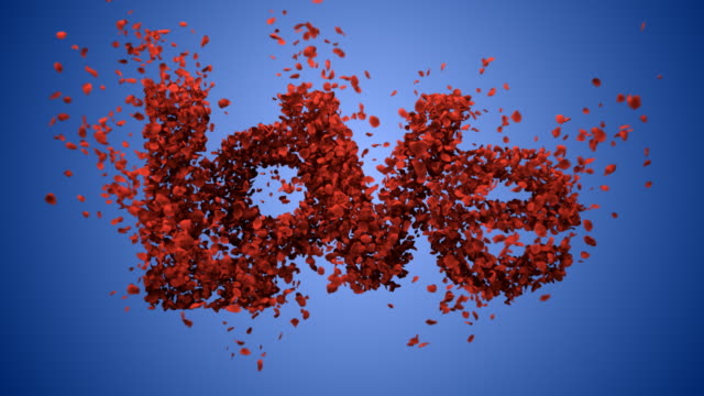 falling in love.blue background (concept) - rose petal stock videos & royalty-free footage