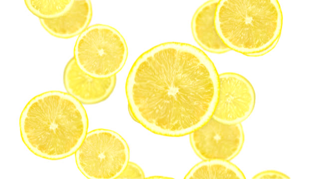 falling lemon slices - lemon stock videos & royalty-free footage