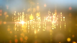 Falling Lights Background Animation With Lens Flare Effects