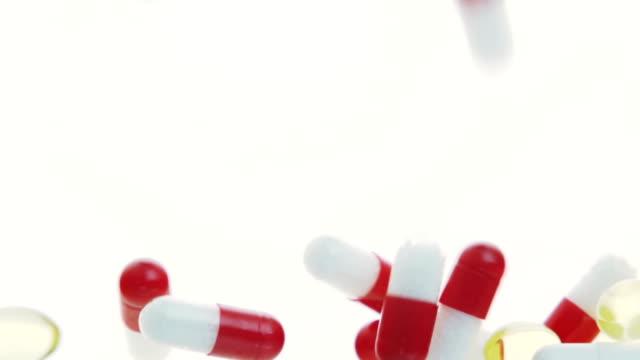 falling medicine pills - anti depressant stock videos & royalty-free footage