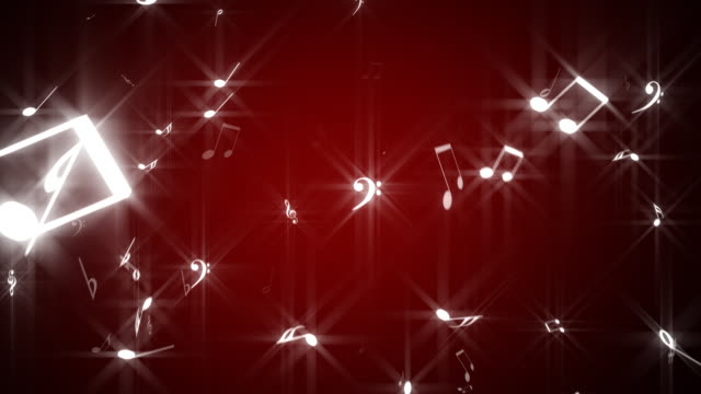 vidéos et rushes de chute notes de musique, boucle - note de musique