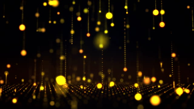 falling particles loopable background 4k - oscar statuette stock videos & royalty-free footage