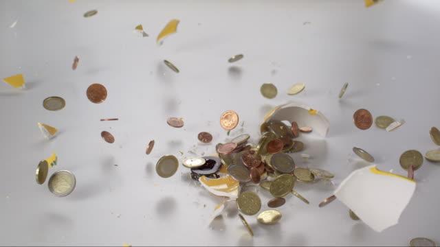 Falling Piggy Bank is Bursting