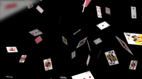 fallenden spielkarten - poker stock-videos und b-roll-filmmaterial