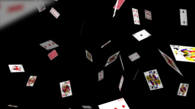 vídeos y material grabado en eventos de stock de playing cards falling - blackjack
