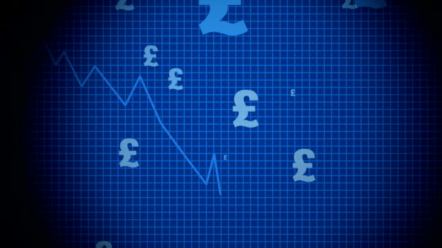 falling pound signs - pound sterling symbol stock videos & royalty-free footage