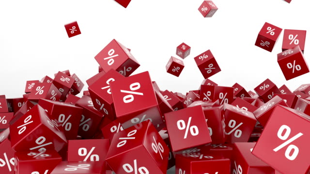 falling red cubes with percent - sale stock videos & royalty-free footage