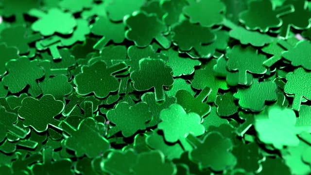 falling shamrocks - st. patrick's day stock videos & royalty-free footage