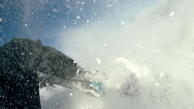falling skier, splashing snow - careless stock videos & royalty-free footage