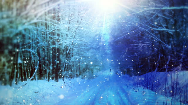 falling snowflakes animation background loop - holiday event stock videos & royalty-free footage