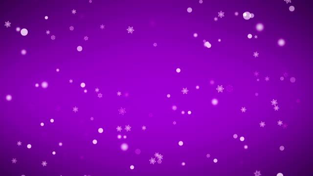 vídeos y material grabado en eventos de stock de falling snowflakes (en bucle - fondo púrpura