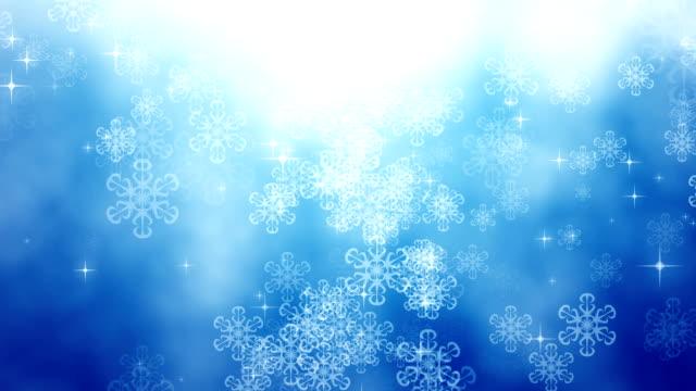 Falling snowflakes.