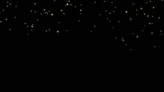 vidéos et rushes de sparkle falling stars confettis animation - un seul objet