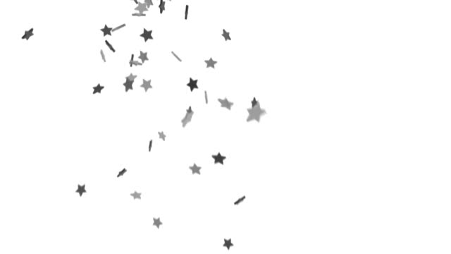falling stars background - silver fall (hd) - confetti stock videos & royalty-free footage