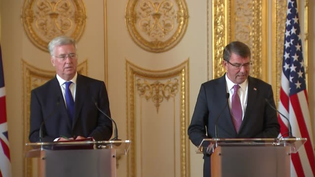 Fallon and Carter press conference Ashton Carter press conference SOT Thank you Thank you Secretary Fallon and it's a pleasure to be here with you in...