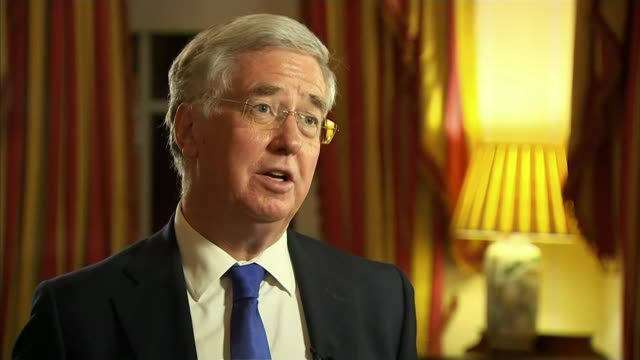 Fallon meets US counterpart for talks on operations / rebel group targets Assad forces barracks USA Washington DC INT Michael Fallon MP interview on...