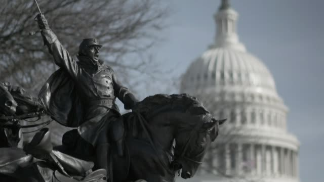 fallout from sacking of fbu director james comey continues washington dc ext the white house the dome of the caiptol building with statue in... - capitol building washington dc stock videos and b-roll footage