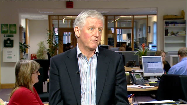 fallout from sir allen stanford investment fraud scandal nottinghamshire nottingham neil davidson interview sot - channel 4 news stock videos & royalty-free footage