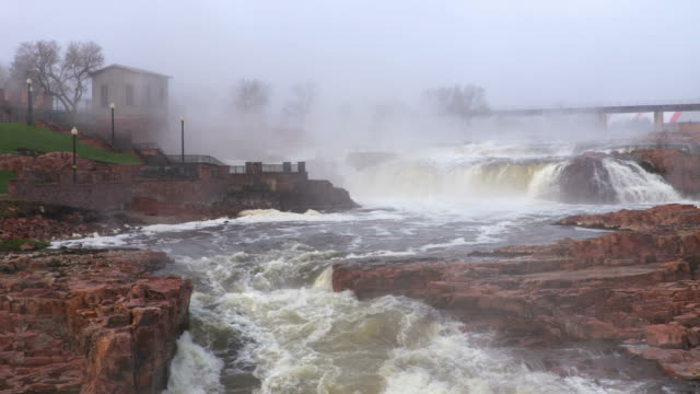 falls park in sioux falls - south dakota stock videos & royalty-free footage
