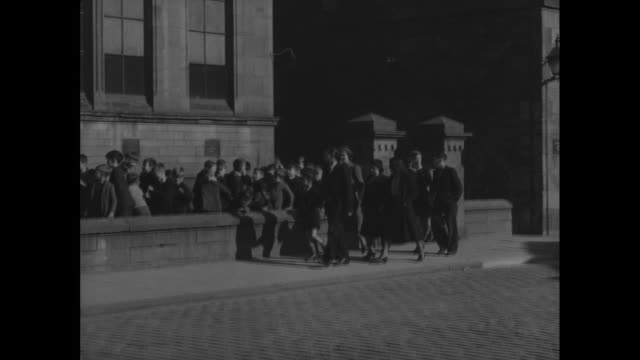 montage families arrive and depart from the child guidance center / dundee, scotland, united kingdom - dundee scotland stock videos and b-roll footage