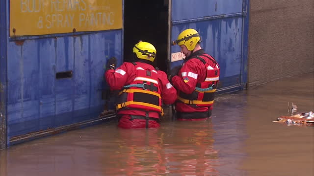 families forced to leave their homes after severe flooding in aberdeenshire have told of the terrifiying moment they saw rapidly rising water... - aberdeenshire stock videos & royalty-free footage