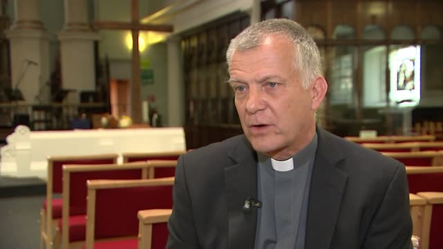 families of british couple killed in santorini buggy crash lead tributes england london int reverend canon steve coulson interview sot - santorini stock videos & royalty-free footage