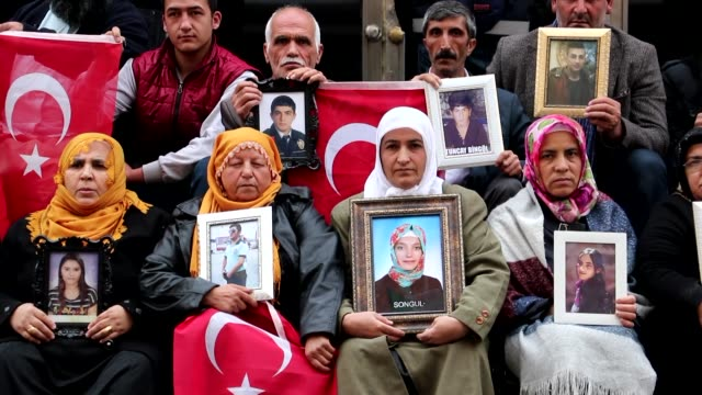 families seeking the return of their children abducted by the terrorist group ypg/pkk continue their sitin protest on day 100 in front of the... - equality stock videos & royalty-free footage