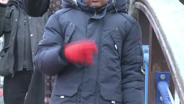 families with deaf children protest against tower hamlets support cuts; england: london: tower hamlets: ext various of children and parents in... - persons with disabilities stock videos & royalty-free footage