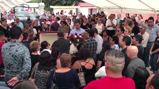 family and friends gather for the funerals of miriam rodriguez martinez a woman who campaigned for victims of crime in mexico who was shot dead in... - northern mexico stock videos & royalty-free footage