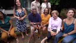 Family and Friends on Enjoying a Barbecue Party at Home