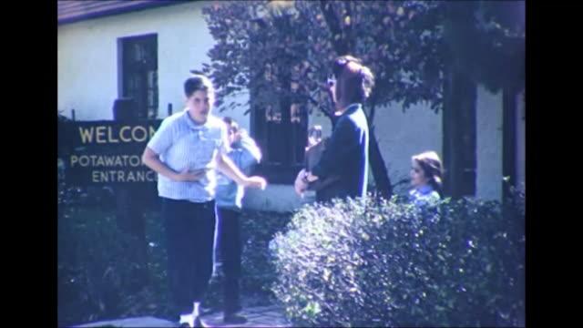 1964 Family Arriving at Potawatomi Inn