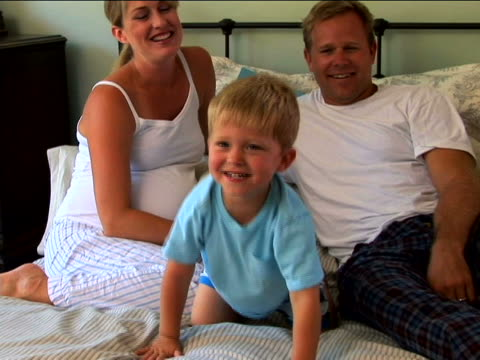 family at bedtime - security blanket stock videos & royalty-free footage
