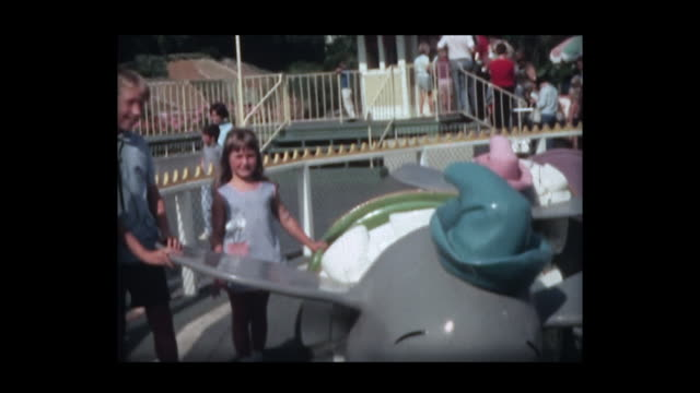 1966 family at disneyland 5 - roundabout stock videos & royalty-free footage