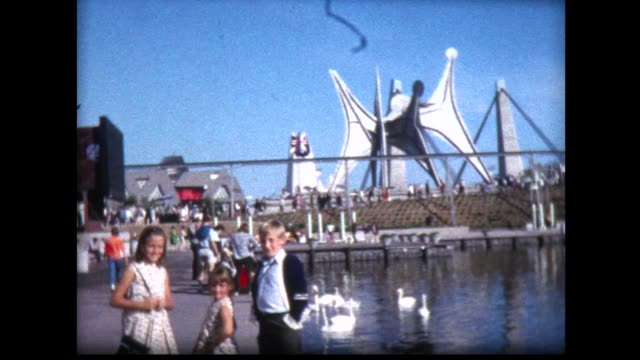 1967 family at expo '67 montreal, canada - world's fair stock videos and b-roll footage