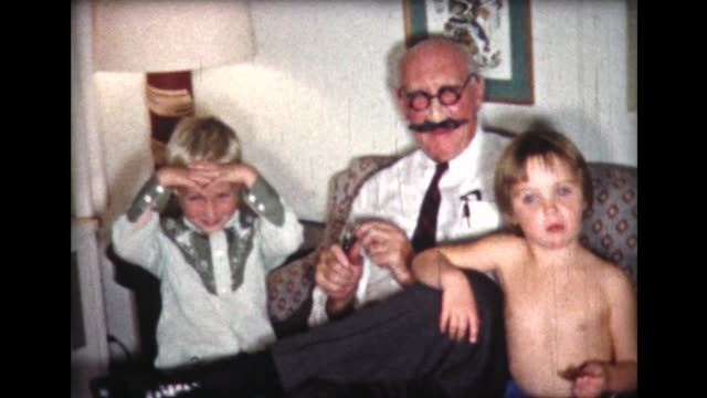 1961 family at halloween dinner in costumes - groucho marx stock videos & royalty-free footage