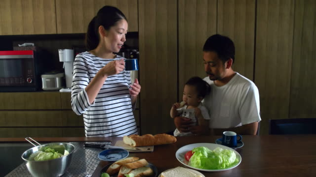 family at home - only japanese stock videos & royalty-free footage