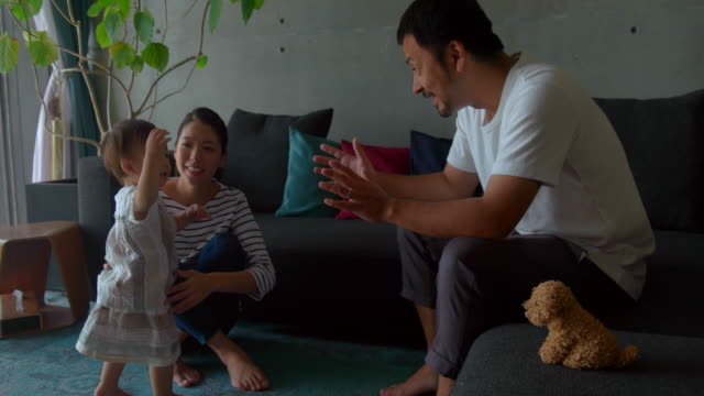 family at home - japanese ethnicity stock videos & royalty-free footage