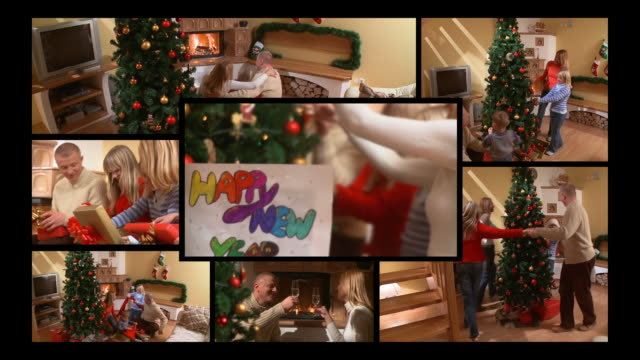 HD-MONTAGE: Familie an Silvester