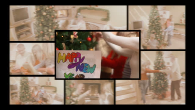 HD MONTAGE: Family At New Year's Eve