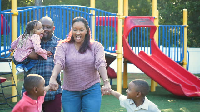 family at playground, twin boys, girl with disability - 4 5 years stock videos & royalty-free footage