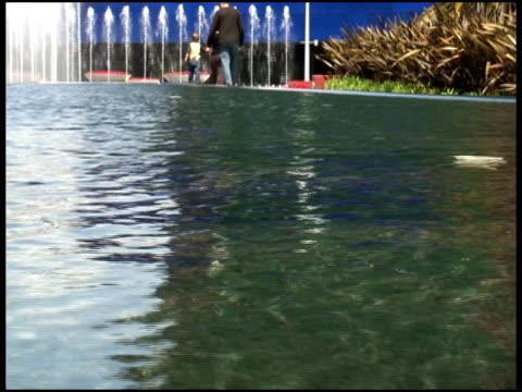 family at reflecting pool - letterbox format bildbanksvideor och videomaterial från bakom kulisserna