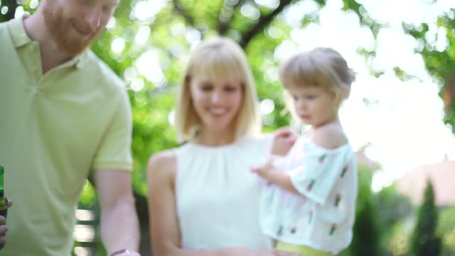family at the backyard - formal garden party stock videos & royalty-free footage