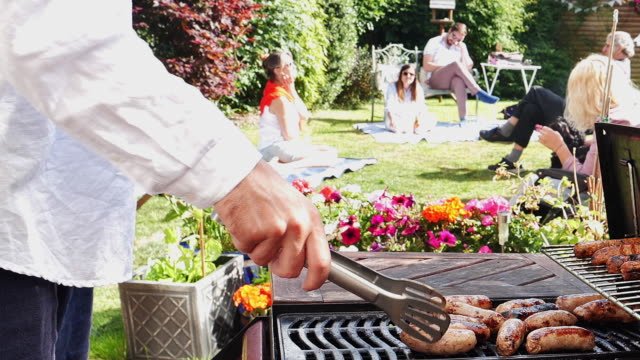 family bbq - barbecue social gathering stock videos & royalty-free footage