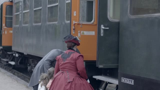 family boarding old steam train - top hat stock videos & royalty-free footage
